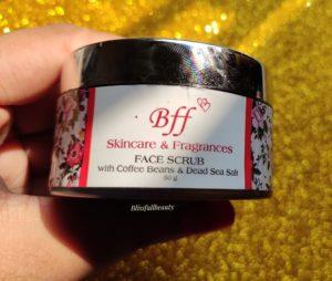 Bff skincare and fragrances face scrub